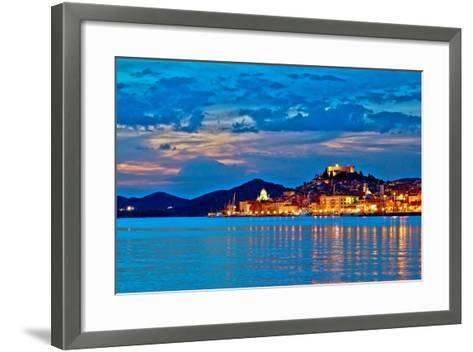 Sibenik Evening Colorful Waterfront View-xbrchx-Framed Art Print