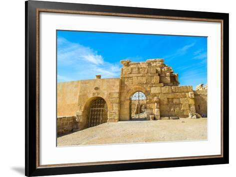 Roman Ruins of Palmyra, Syria. UNESCO World Heritage-siempreverde22-Framed Art Print