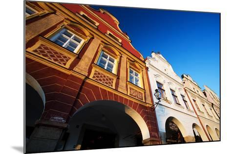Traditional Houses in Town of Telc, Czech Republic-romanslavik com-Mounted Photographic Print
