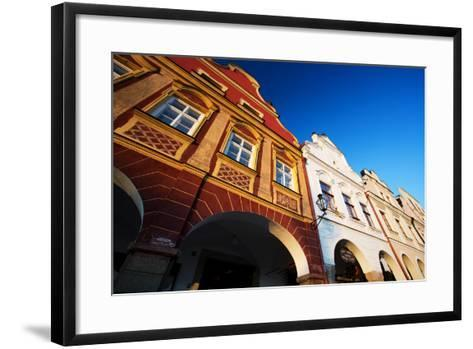 Traditional Houses in Town of Telc, Czech Republic-romanslavik com-Framed Art Print