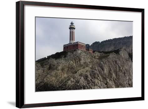 Punta Carena Lighthouse, Capri, Italy- prosiaczeq-Framed Art Print