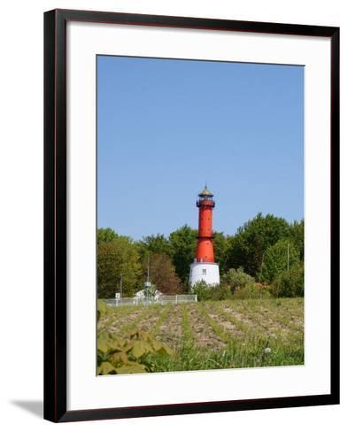 Old Light House in Rozewie on Baltic Sea Side-Maria Brzostowska-Framed Art Print