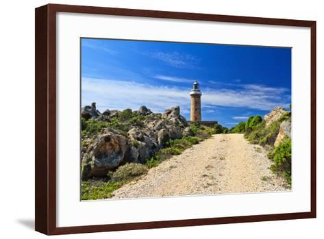 Road to Lighthouse - San Pietro Isle, Sardinia, Italy-Antonio Scarpi-Framed Art Print