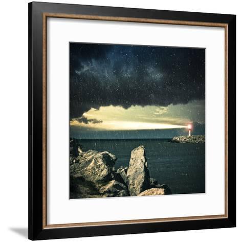 Lighthouse- adempercem-Framed Art Print