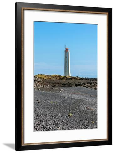 Lighthouse in West Iceland at Sunny Weather-dvoevnore-Framed Art Print