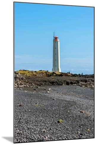 Lighthouse in West Iceland at Sunny Weather-dvoevnore-Mounted Photographic Print