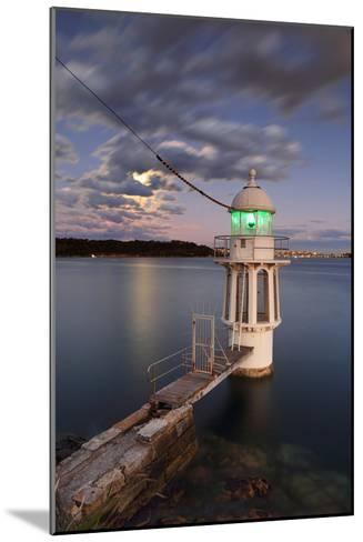 Cremorne Point Lighthouse Sydney Harbour-Leah-Anne Thompson-Mounted Photographic Print