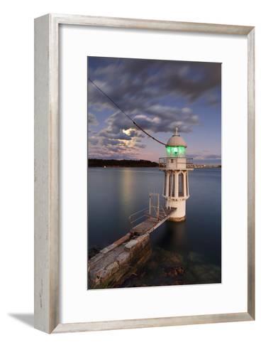 Cremorne Point Lighthouse Sydney Harbour-Leah-Anne Thompson-Framed Art Print
