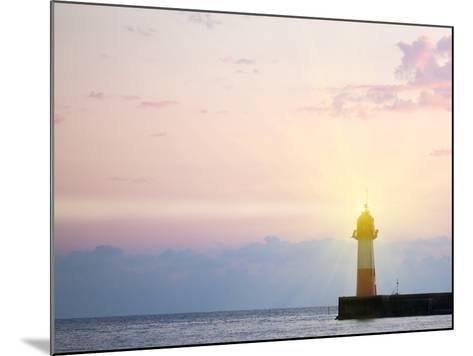 Lighthouse Light at Sunset-Alexander Potapov-Mounted Photographic Print