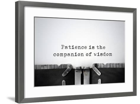 Perspectives. Inspirational Quote Typed on an Old Typewriter.- Zerophoto-Framed Art Print
