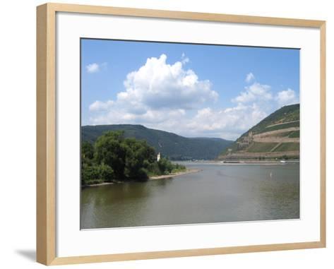 Mündung Der Nahe in Den Rhein Bei Bingen- KlausMJan-Framed Art Print