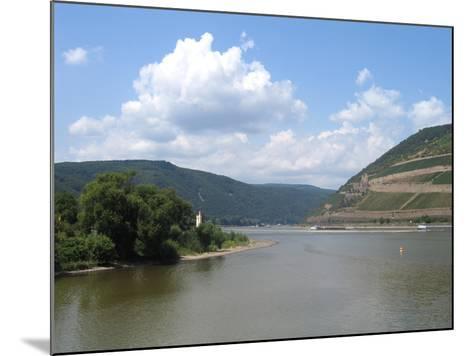 Mündung Der Nahe in Den Rhein Bei Bingen- KlausMJan-Mounted Photographic Print