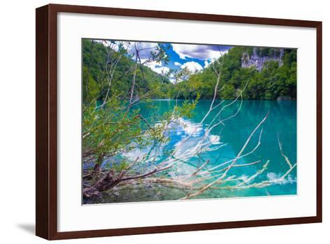Plitvice Lakes National Park, the Largest National Park in Croatia, UNESCO World Heritage-siempreverde22-Framed Art Print
