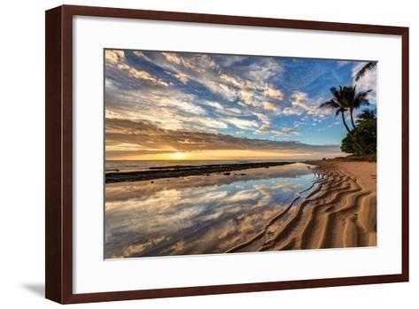 Sunrise from Kauai Kailani in the Town of Kapaa on the Hawaiian Island of Kauai.-peteleclerc-Framed Art Print