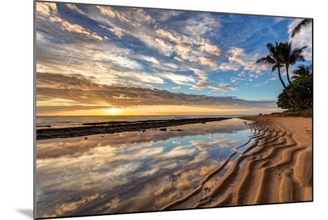 Sunrise from Kauai Kailani in the Town of Kapaa on the Hawaiian Island of Kauai.-peteleclerc-Mounted Photographic Print