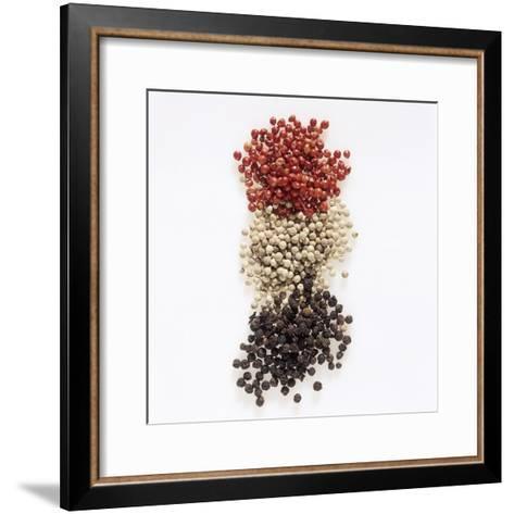Peppercorns (Pink, White, Black)-Peter Rees-Framed Art Print