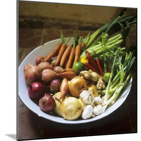 A Bowl of Vegetables, Citrus Fruits and Spices-Tara Fisher-Mounted Photographic Print