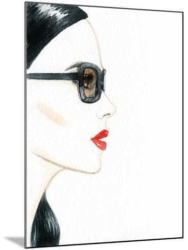 Woman Face with Glasses. Fashion Illustration-Anna Ismagilova-Mounted Photographic Print