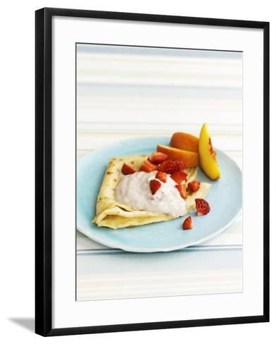 Pancakes with Fruit and Yoghurt Sauce-Gareth Morgans-Framed Art Print