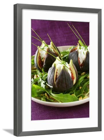 Stuffed Figs on Rocket Salad-Anthony Lanneretonne-Framed Art Print