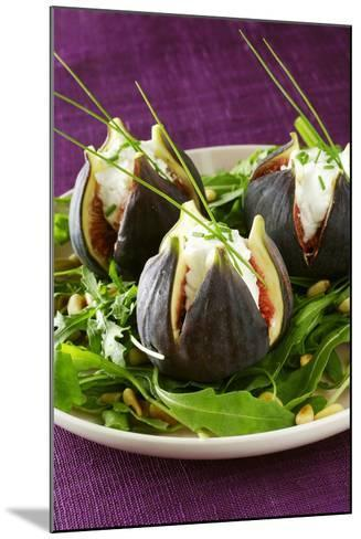 Stuffed Figs on Rocket Salad-Anthony Lanneretonne-Mounted Photographic Print