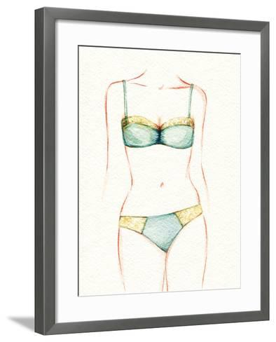 Woman Body. Underwear-Anna Ismagilova-Framed Art Print