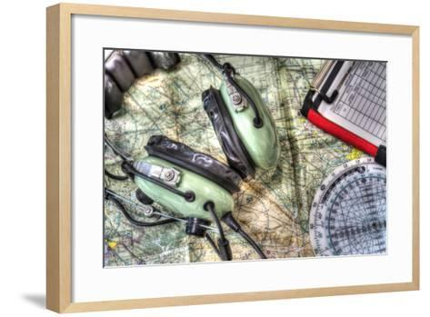 Close up of Pilot Tools in Hdr-Gabriele Maltinti-Framed Art Print