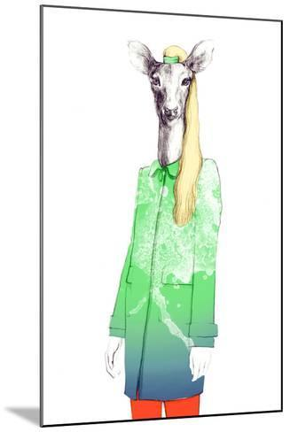 Fashion Animal .Watercolor Illustration-Anna Ismagilova-Mounted Photographic Print