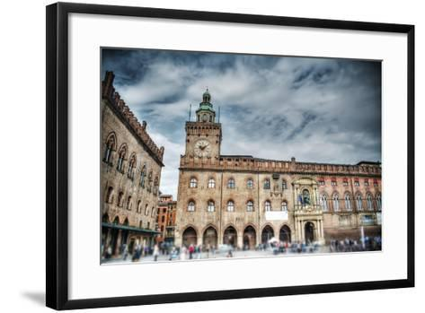 Palazzo D'accursio in Piazza Maggiore, Bologna-Gabriele Maltinti-Framed Art Print