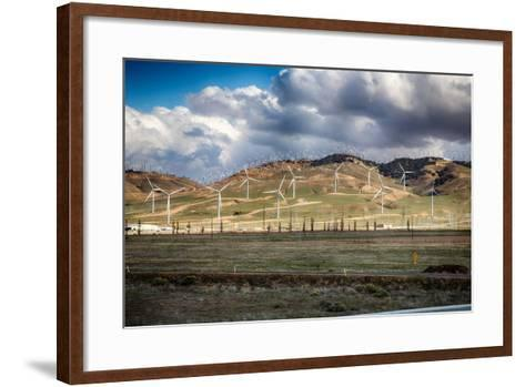 Bakersfield Wind Farm-garytog-Framed Art Print