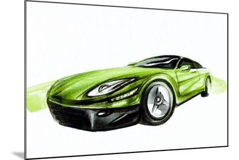Car. Art Sketch . Sport Car. Pencil Drawing-Anna Ismagilova-Mounted Photographic Print