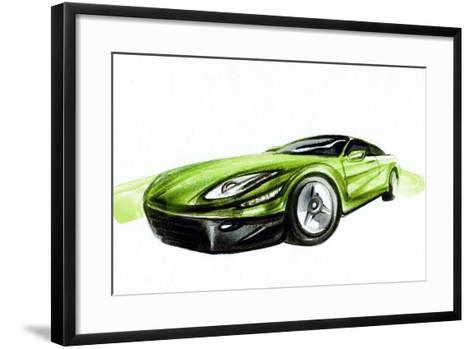 Car. Art Sketch . Sport Car. Pencil Drawing-Anna Ismagilova-Framed Art Print
