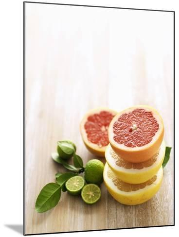 Halved Grapefruits and Limes-Louise Lister-Mounted Photographic Print