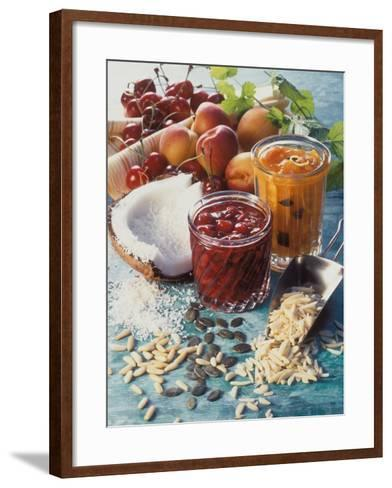 Cherry Jam with Coconut and Apricot Jam with Almonds-Martina Urban-Framed Art Print