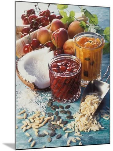 Cherry Jam with Coconut and Apricot Jam with Almonds-Martina Urban-Mounted Photographic Print