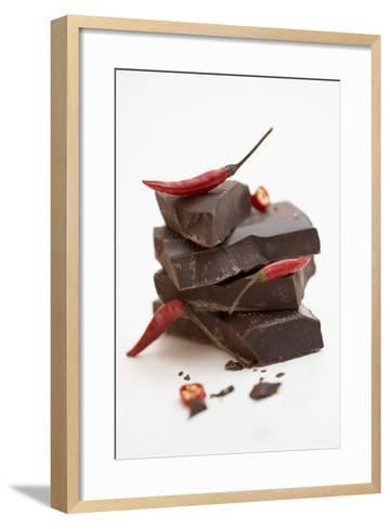 Pieces of Chocolate with Red Chillies-Marc O^ Finley-Framed Art Print
