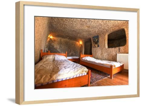 Cave Hotel Room-EvanTravels-Framed Art Print