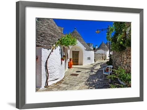 Unique Trulli Houses with Conical Roofs in Alberobello, Italy, P-Freesurf-Framed Art Print