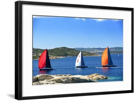 Sailboats Regatta Racing-stefano pellicciari-Framed Art Print