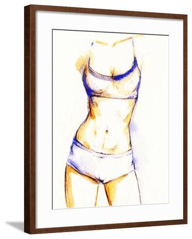 Woman Fitness Body-Anna Ismagilova-Framed Art Print