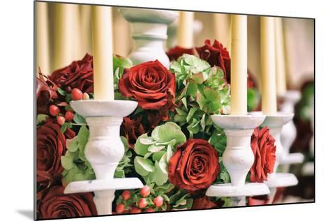 Roses and Candles Decoration-stefano pellicciari-Mounted Photographic Print