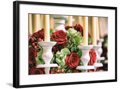 Roses and Candles Decoration-stefano pellicciari-Framed Art Print