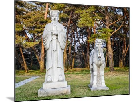 Scientifics and Horses Statues on the Road to the Tombs of Ancient Koguryo Kingdom, Pyongyang, Nort-siempreverde22-Mounted Photographic Print