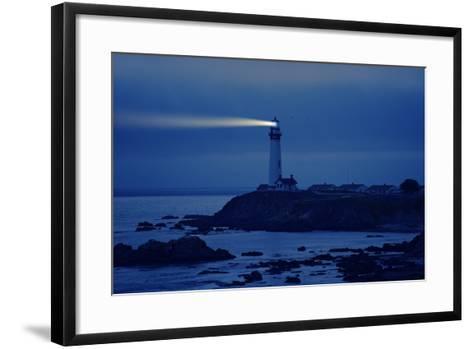 Lighthouse in California-Tomasz Zajda-Framed Art Print