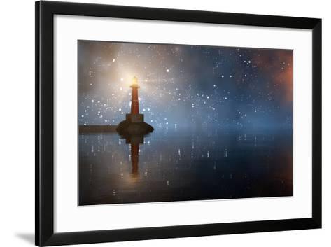 Lighthouse on the Coast-juanjo tugores-Framed Art Print