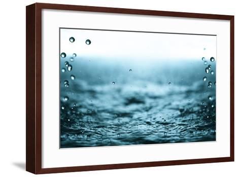 Rain Drops.-Janis Smits-Framed Art Print
