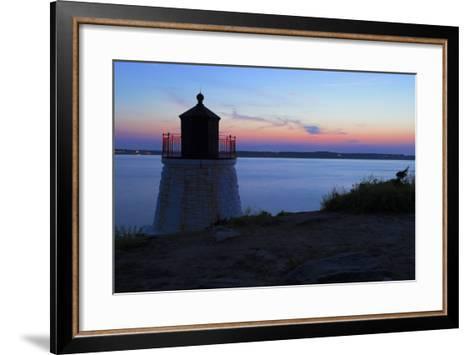 Lighthouse on a Rocky Shore.- andreiorlov-Framed Art Print