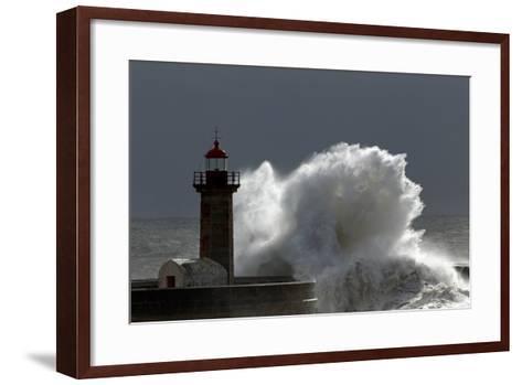 Lighthouse Storm-Zacarias da Mata-Framed Art Print