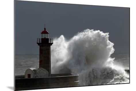 Lighthouse Storm-Zacarias da Mata-Mounted Photographic Print
