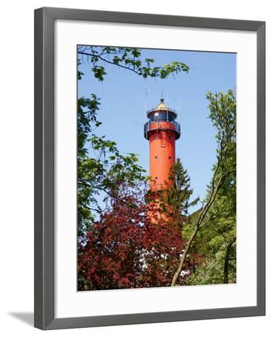 Old Light-House in Rozewie near Gdansk-Maria Brzostowska-Framed Art Print